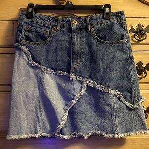 Denim Patch Mini Skirt Ella Moss 28